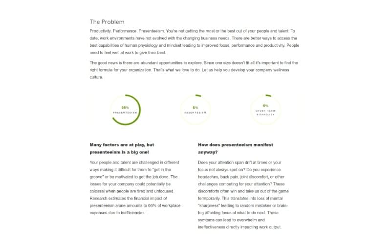 Be Well 360 Program Services problem statement