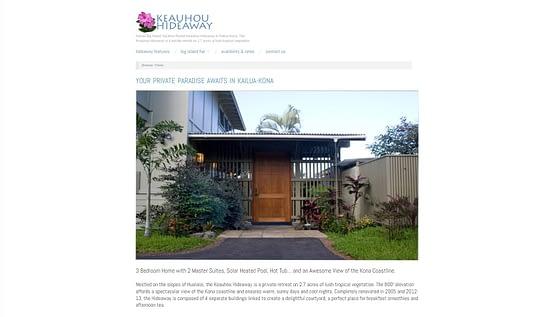 Keauhou Hideaway Hawaii rental house full homepage